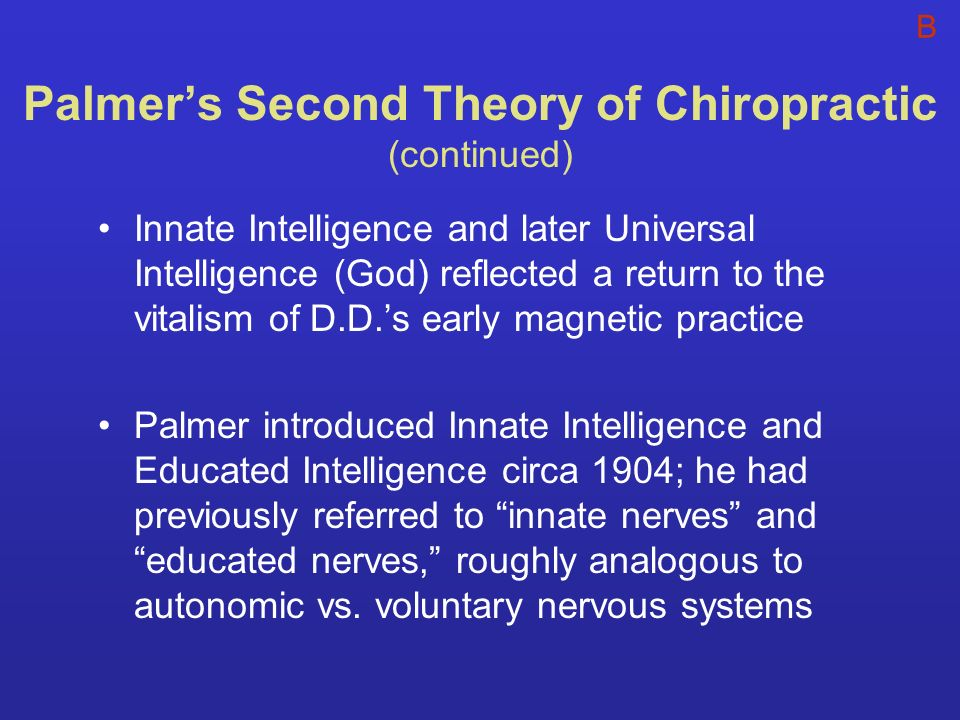 Palmer's Second Theory of Chiropractic (continued)