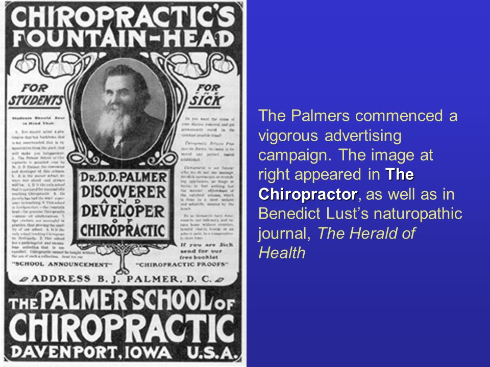 The Palmers commenced a vigorous advertising campaign