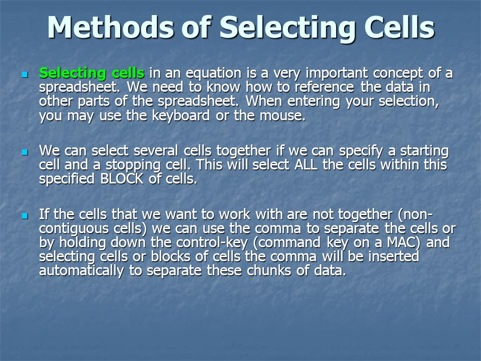 Methods of Selecting Cells