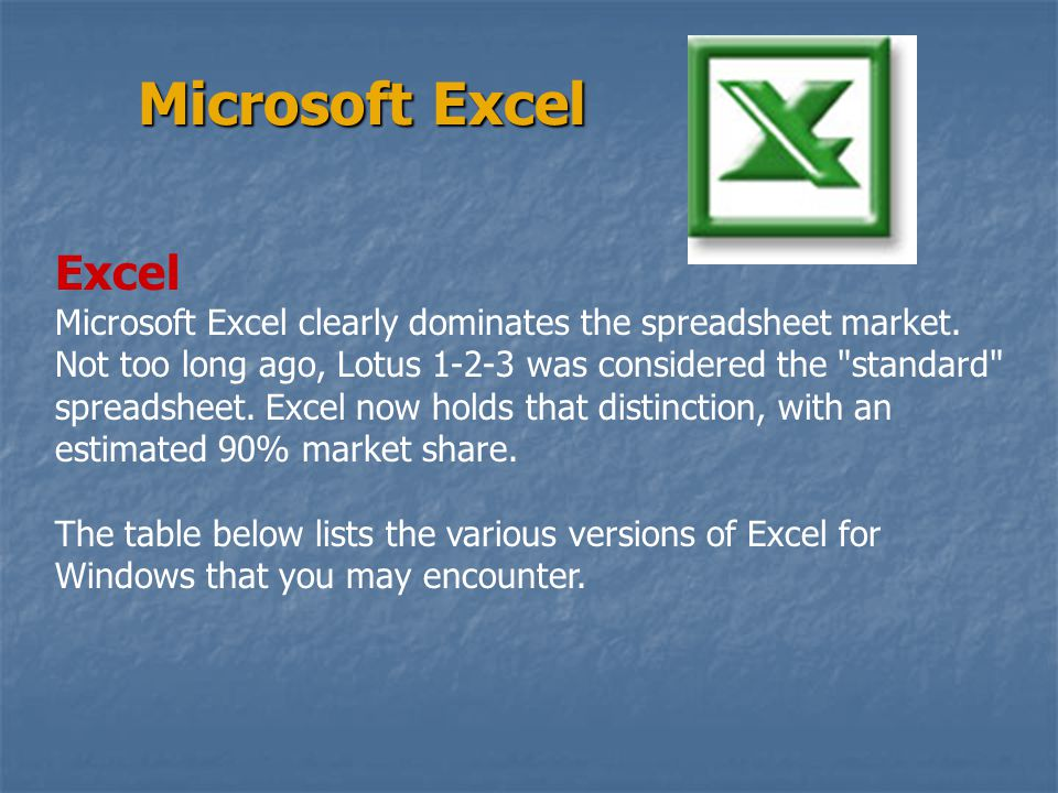 Microsoft Excel Excel.