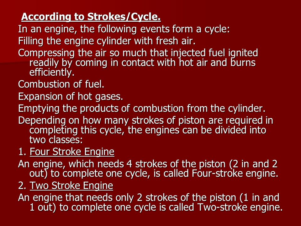 According to Strokes/Cycle.