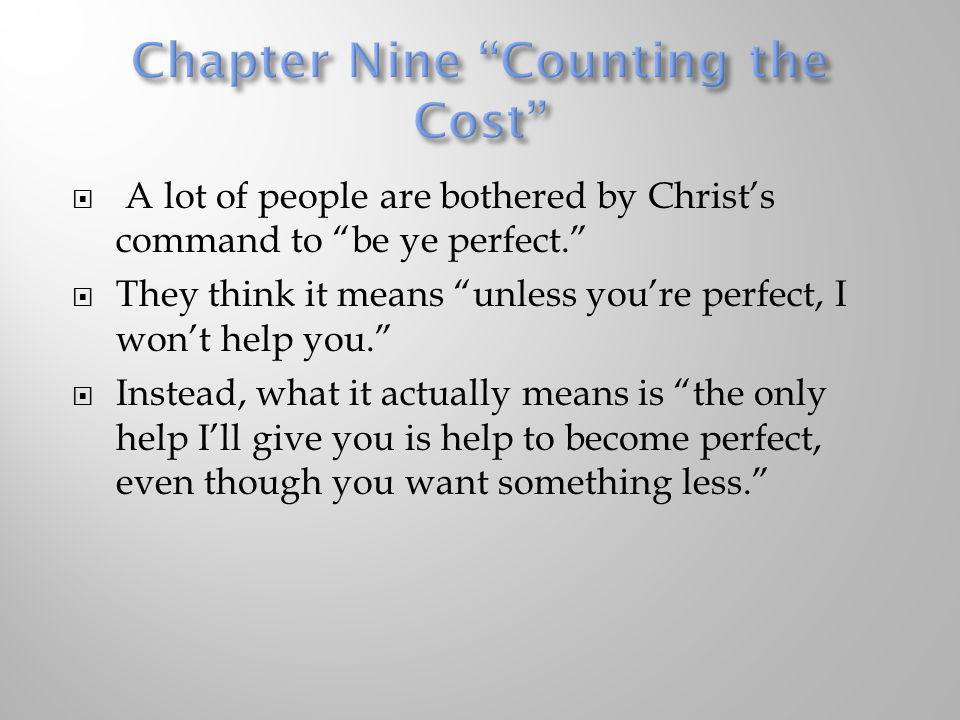 Chapter Nine Counting the Cost