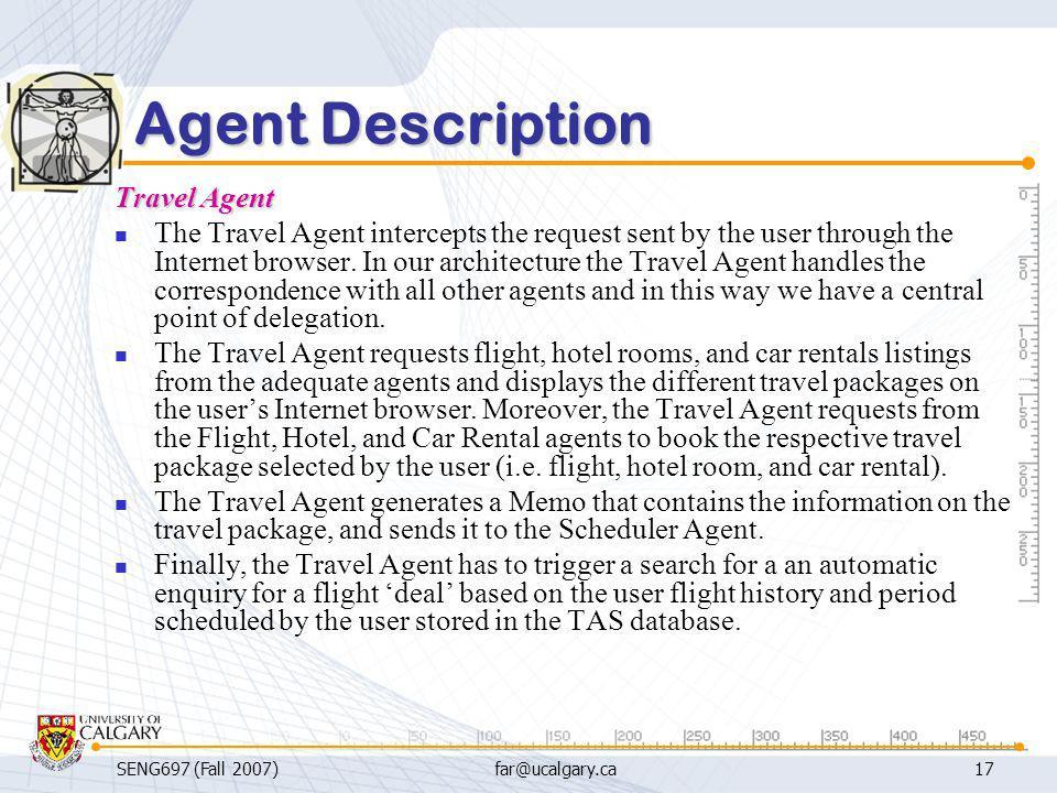 Agent Description Travel Agent