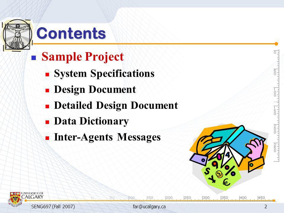 SENG697: Agent-based Software Engineering