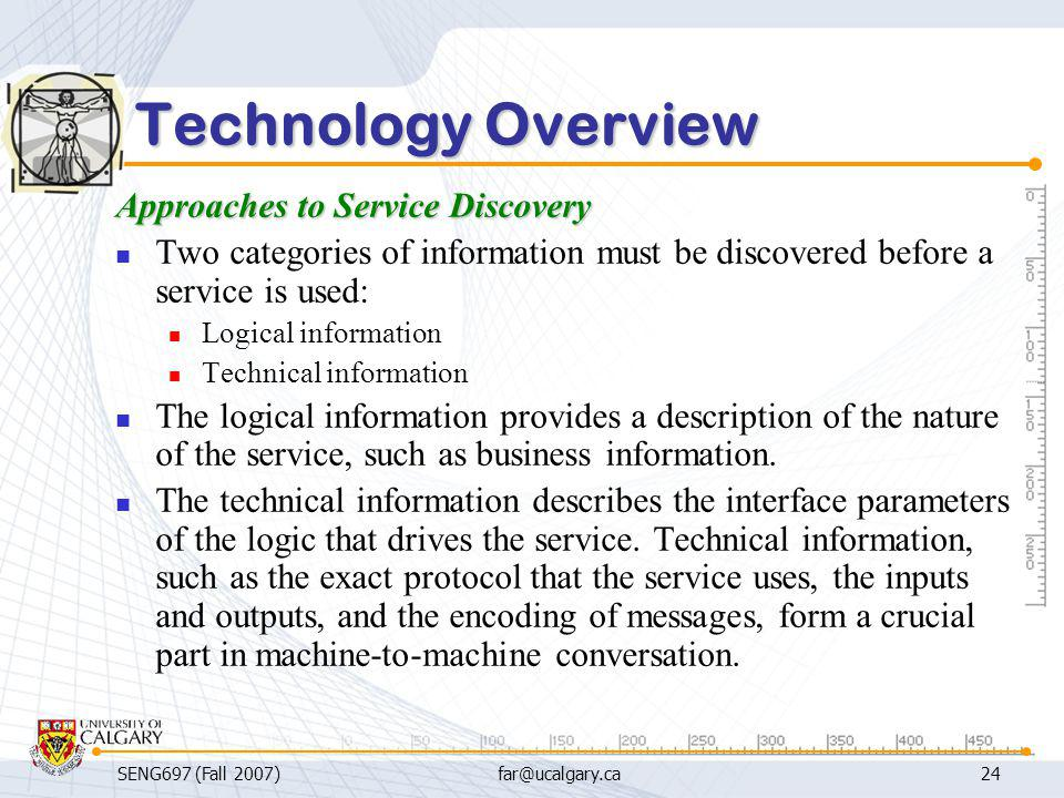 Technology Overview Approaches to Service Discovery