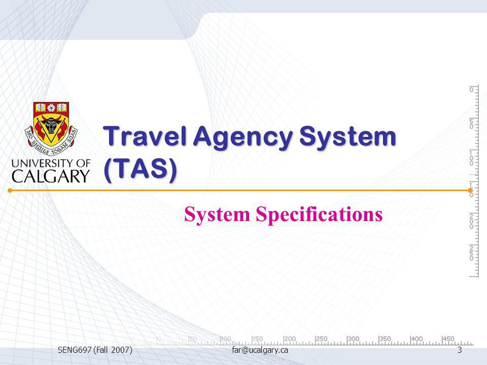 Travel Agency System (TAS)