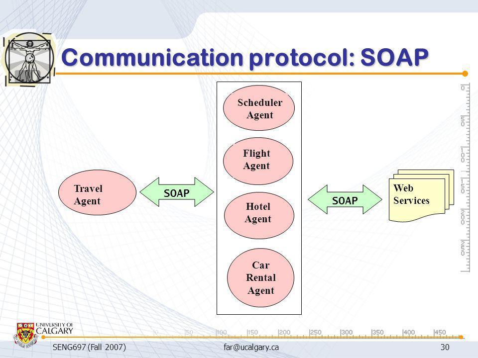 Communication protocol: SOAP