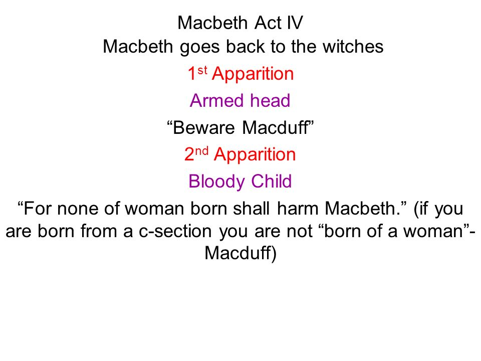 Macbeth goes back to the witches