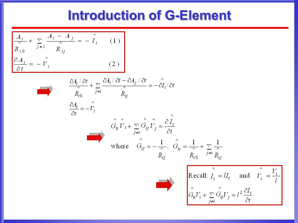 Introduction of G-Element