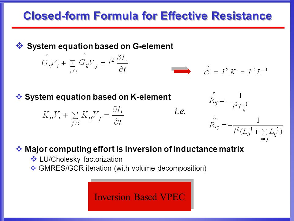 Closed-form Formula for Effective Resistance