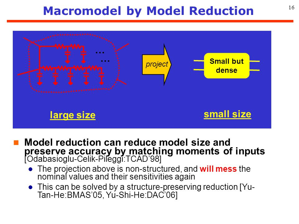 Macromodel by Model Reduction