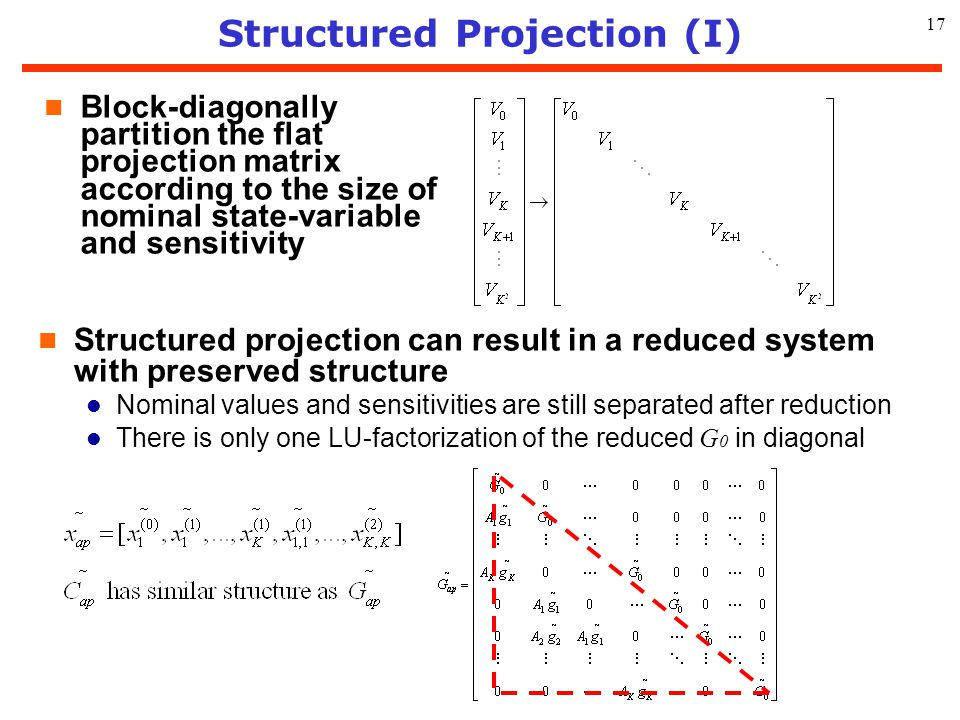 Structured Projection (I)