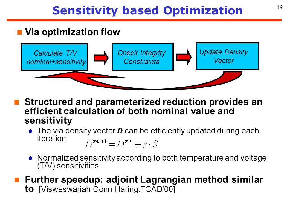 Sensitivity based Optimization