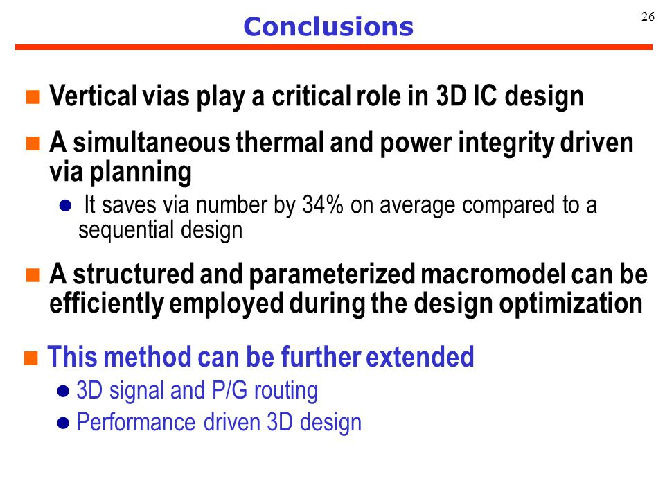 Vertical vias play a critical role in 3D IC design