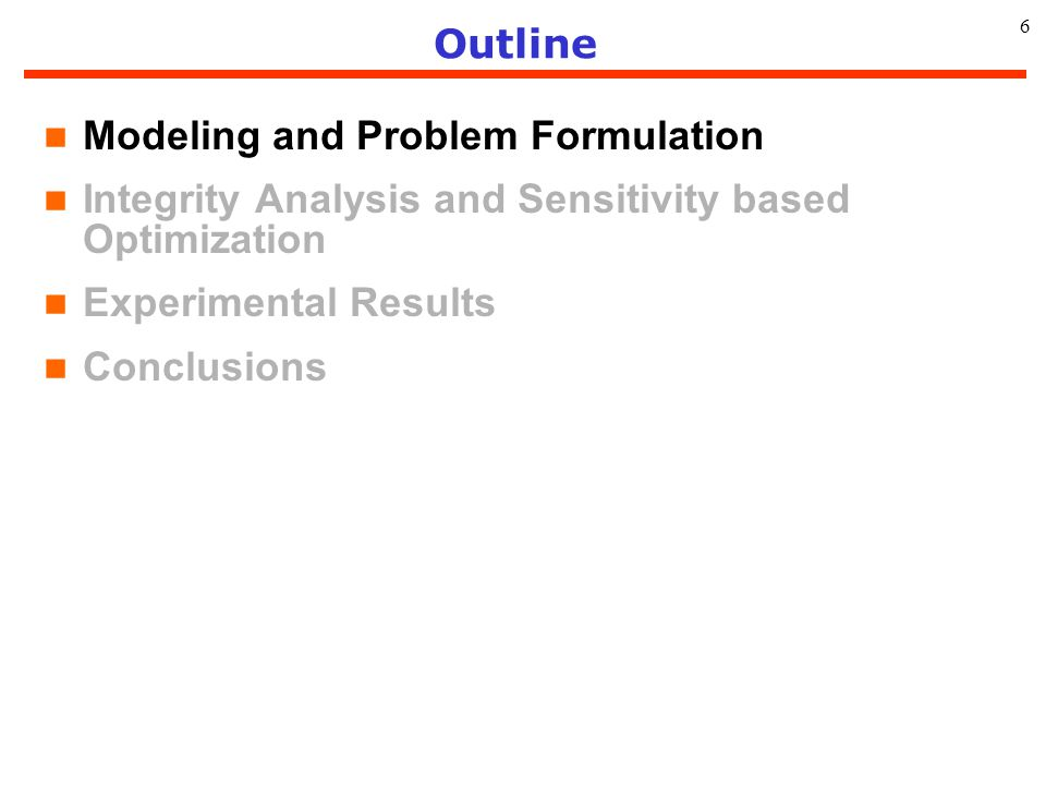 Modeling and Problem Formulation