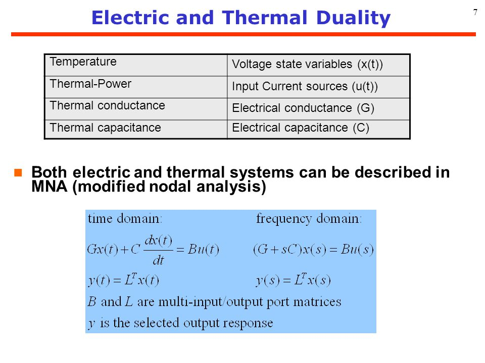 Electric and Thermal Duality