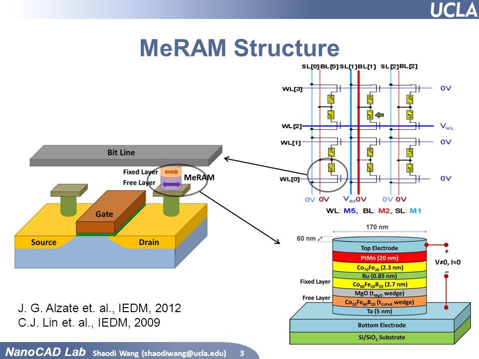 MeRAM Structure J. G. Alzate et. al., IEDM, 2012