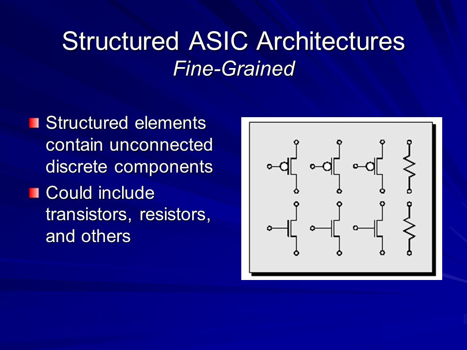 Structured ASIC Architectures Fine-Grained