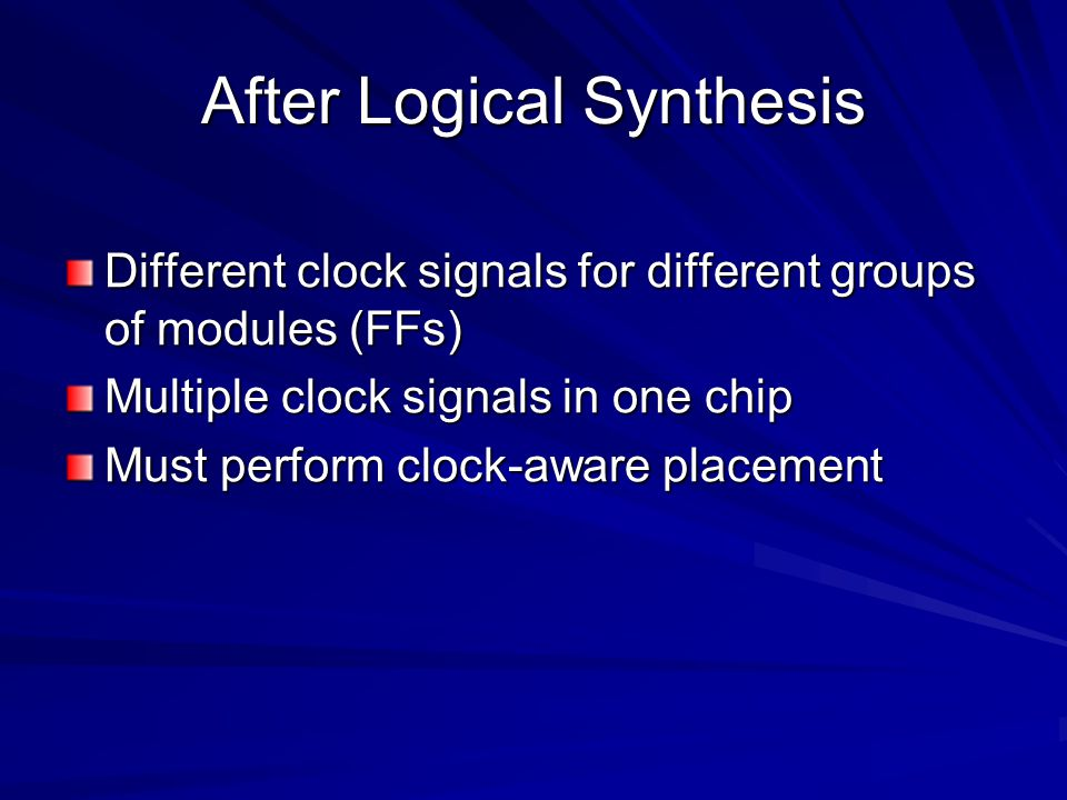 After Logical Synthesis