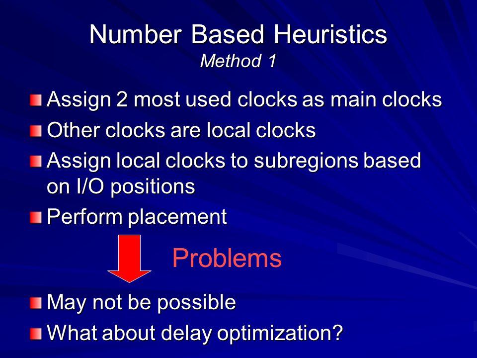 Number Based Heuristics Method 1