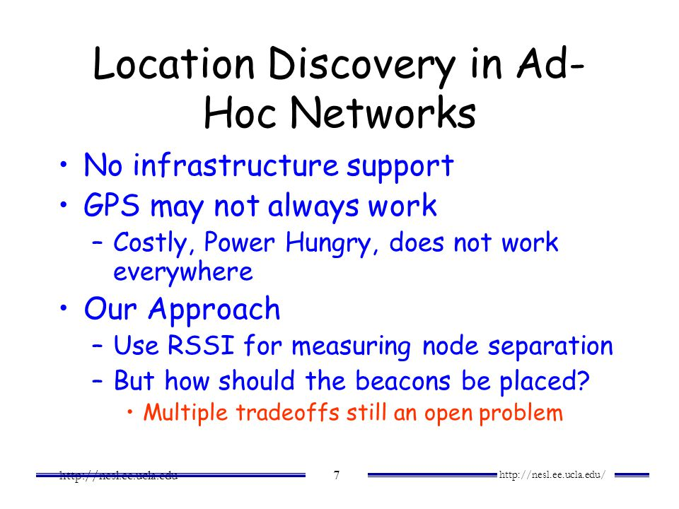 Location Discovery in Ad-Hoc Networks