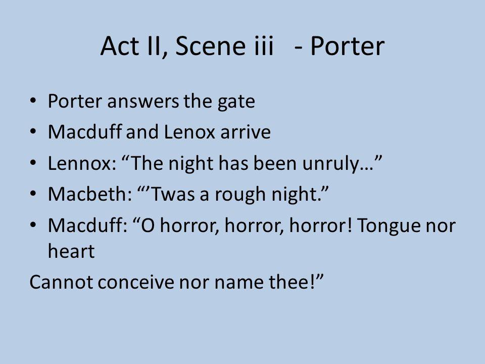 Act II, Scene iii - Porter
