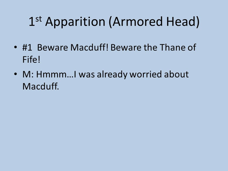 1st Apparition (Armored Head)