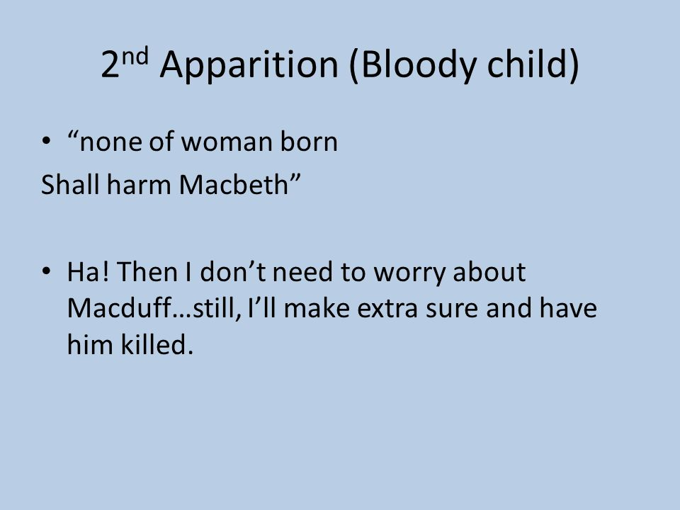 2nd Apparition (Bloody child)
