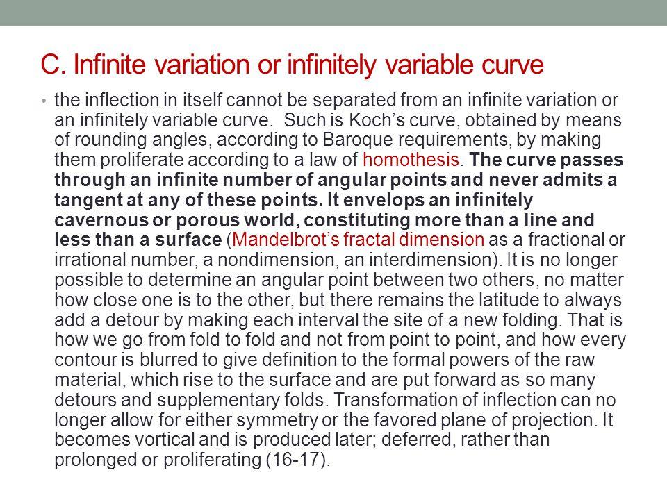 C. Infinite variation or infinitely variable curve
