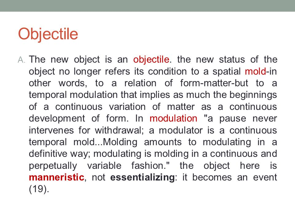Objectile