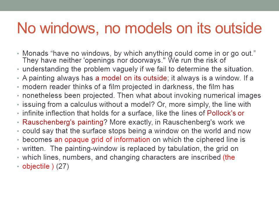 No windows, no models on its outside