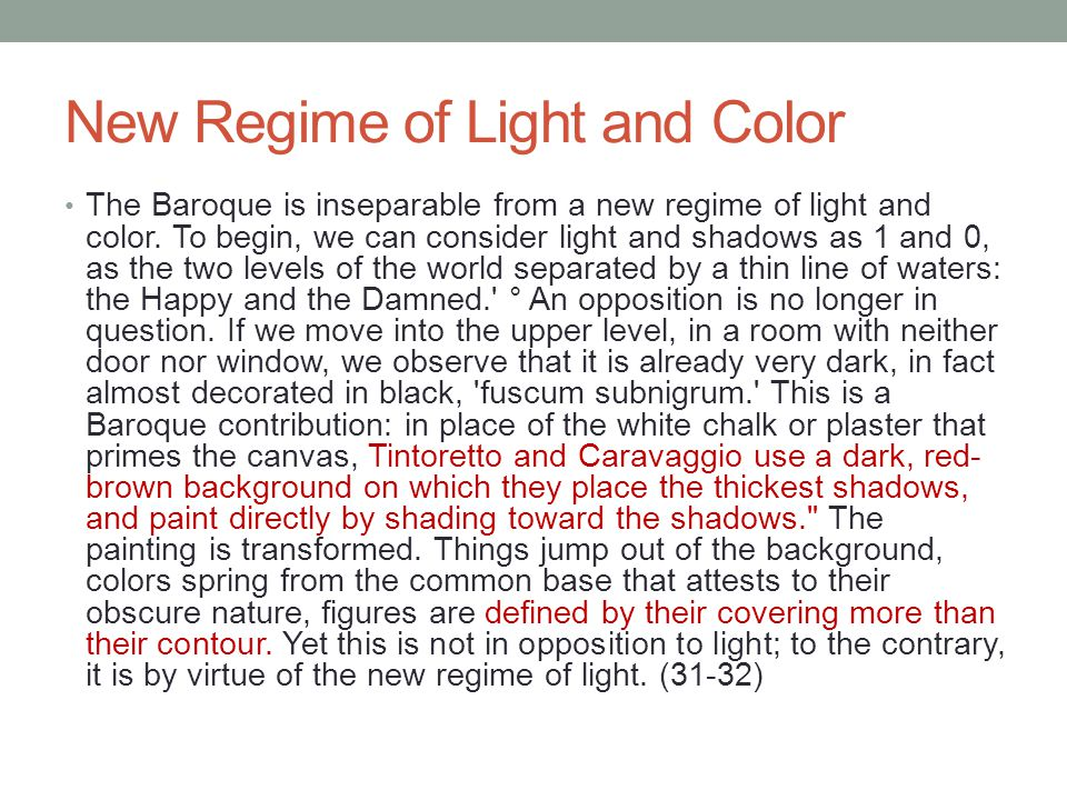 New Regime of Light and Color