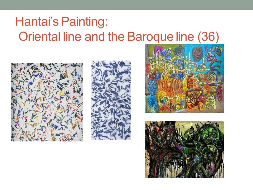 Hantai's Painting: Oriental line and the Baroque line (36)