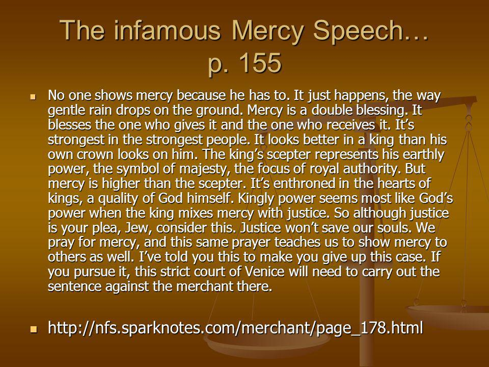The infamous Mercy Speech… p. 155