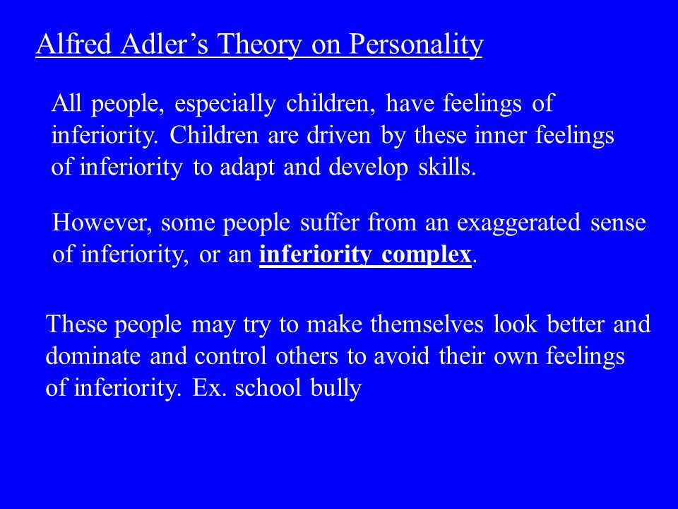Alfred Adler's Theory on Personality