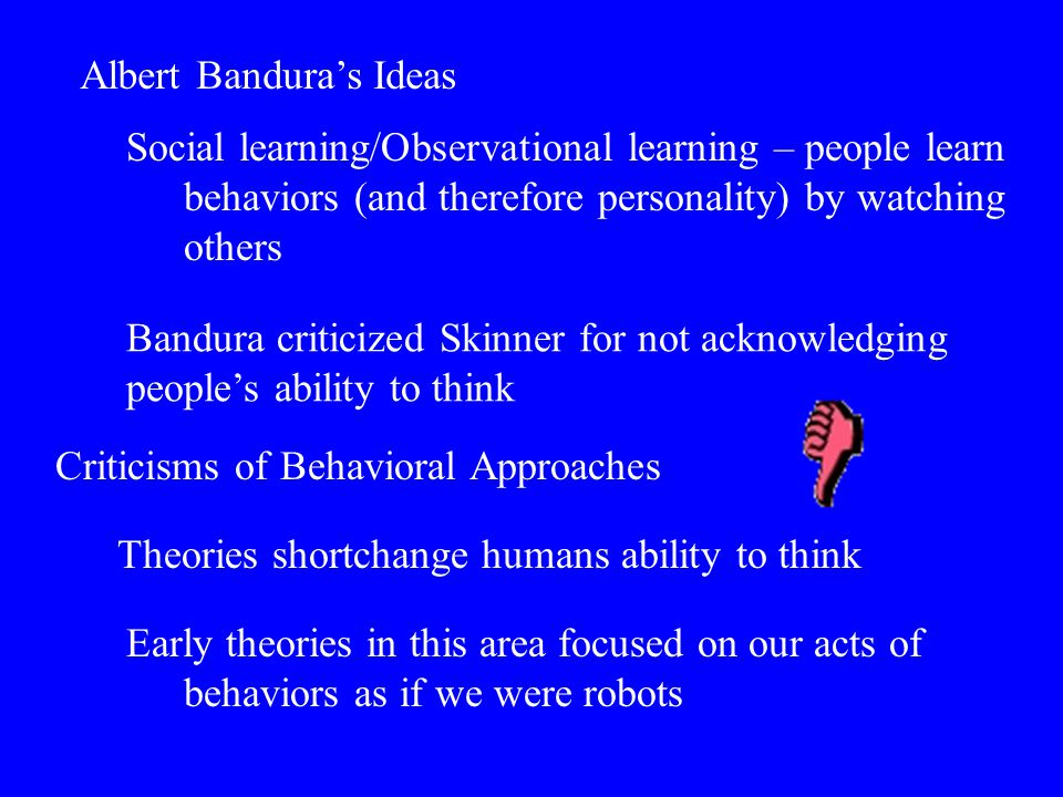 Albert Bandura's Ideas