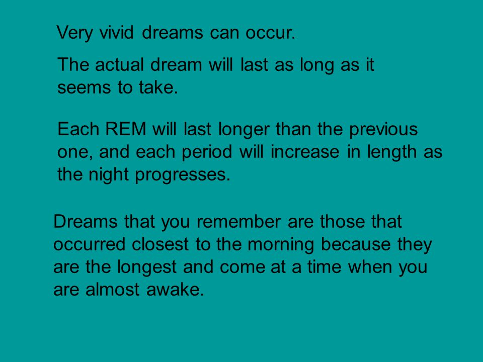 Very vivid dreams can occur.