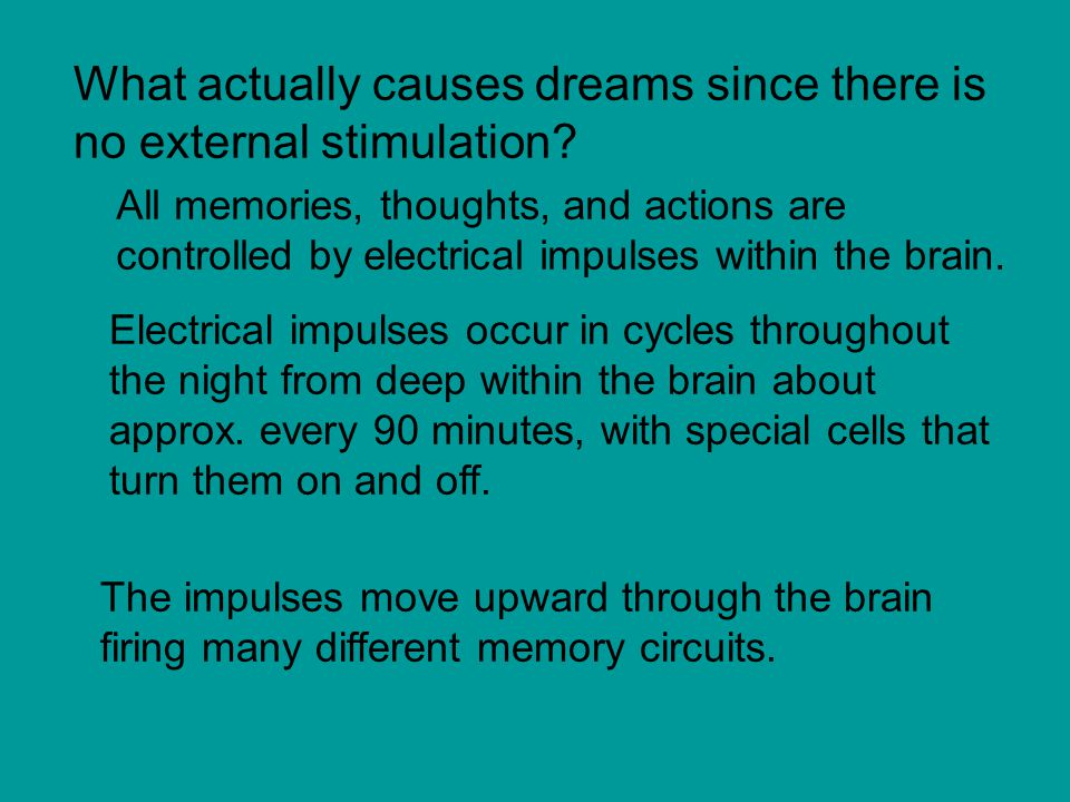 What actually causes dreams since there is no external stimulation