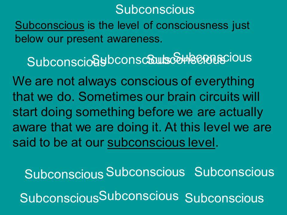 Subconscious Subconscious Subconscious Subconscious Subconscious
