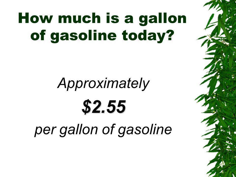 How much is a gallon of gasoline today