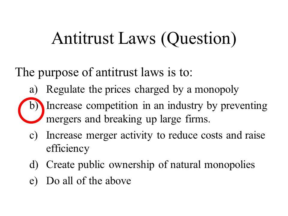 Antitrust Laws (Question)