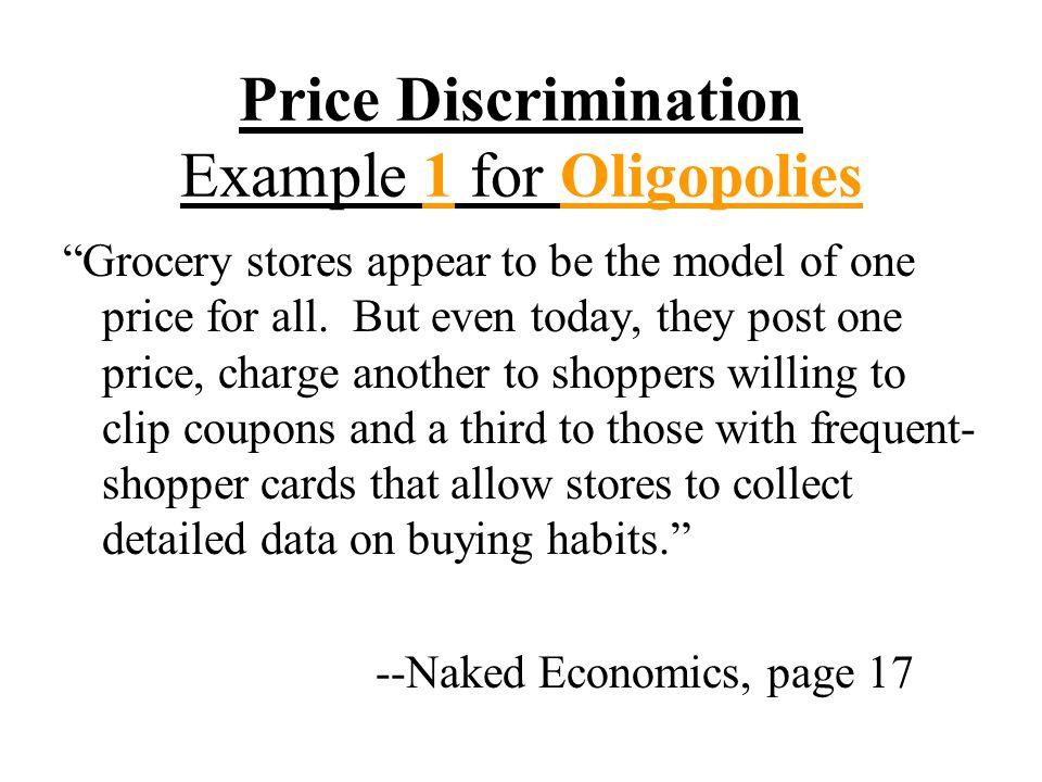 Price Discrimination Example 1 for Oligopolies