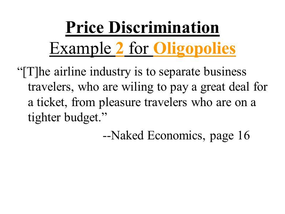 Price Discrimination Example 2 for Oligopolies