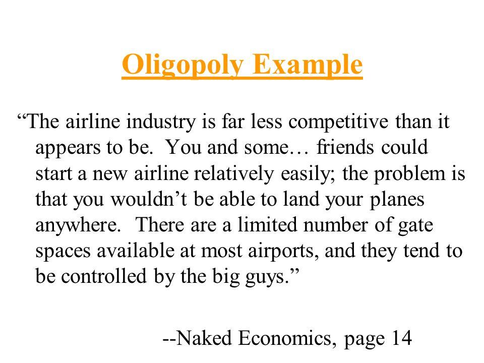 Oligopoly Example