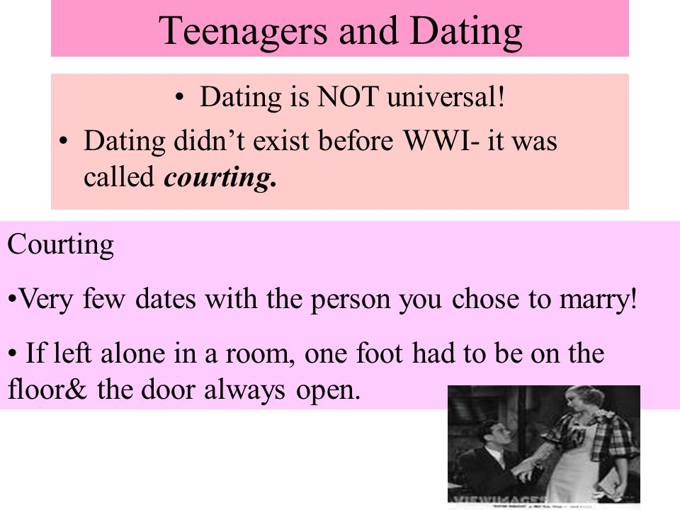 Dating is NOT universal!