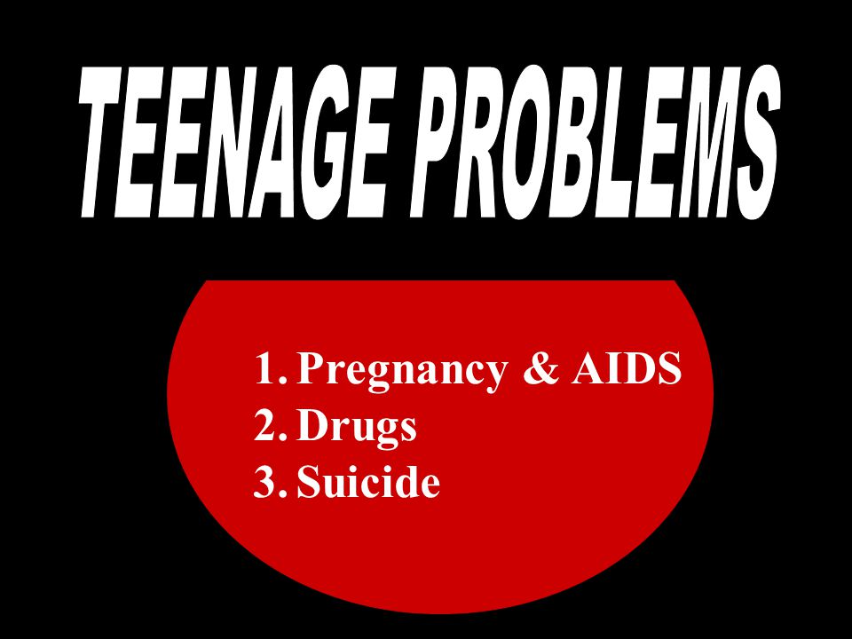 TEE TEENAGE PROBLEMS Pregnancy & AIDS Drugs Suicide