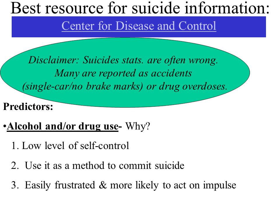Best resource for suicide information: