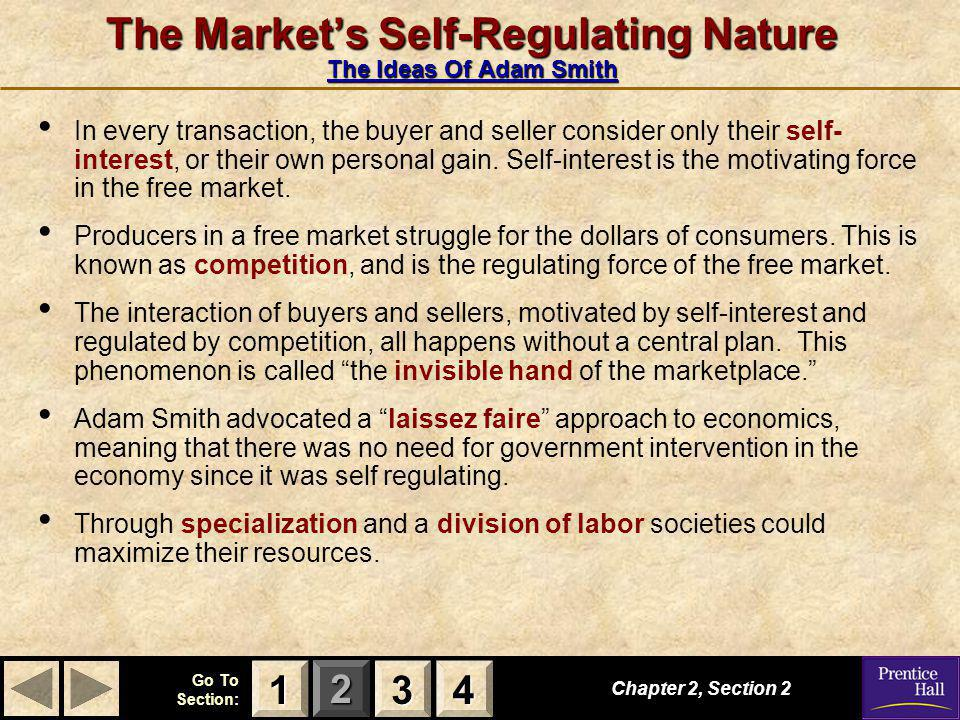 The Market's Self-Regulating Nature The Ideas Of Adam Smith