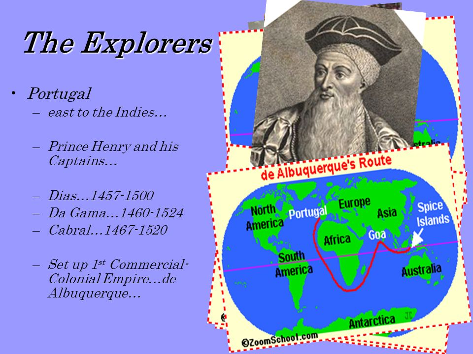 The Explorers Portugal east to the Indies…