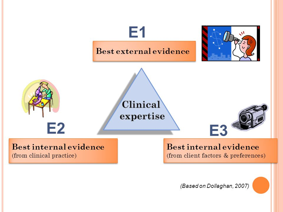 E1 E2 E3 Clinical expertise Best external evidence